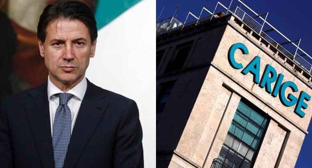 """Il Presidente Conte: """"il Governo vigila su Banca Carige ma neanche un euro di soldi pubblici. I tempi di Renzi e Gentiloni dei soldi a perdere per le banche sono finiti""""…!"""