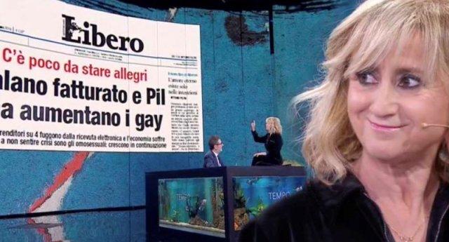 Luciana Littizzetto dice la sua sul titolo di Libero sui gay… Fantastica!