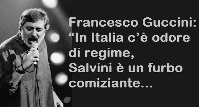"Francesco Guccini: ""In Italia c'è odore di regime, Salvini è un furbo comiziante…"