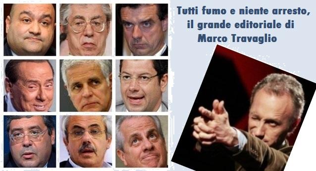 Tutti fumo e niente arresto – Il grande editoriale di Marco Travaglio sull'arresto di Formigoni…
