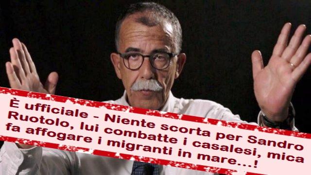 È ufficiale – Niente scorta per Sandro Ruotolo, lui combatte i casalesi, mica fa affogare i migranti in mare…!