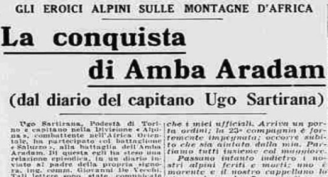 15 febbraio del 1936 – La battaglia di Amba Aradam in Etiopia… per noi solo un intercalare, un modo di dire. Per la storia un genocidio, uno dei peggiori crimini di guerra dell'Italia fascista.