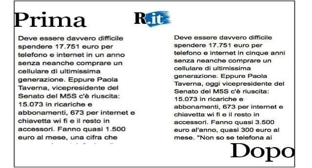 Repubblica e la nuova Fake News su M5s: spese folli di Paola Raverna & C. …Ma i dati non sono dell'ultimo anno ma di 5 anni! Scoperta la menzogna, Repubblica costretta a rettificare, ma in gran silenzio… E questa è la stampa Italiana…!