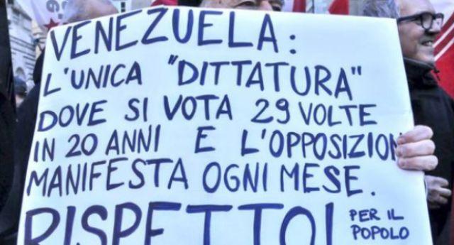 Il caso Venezuela: l'unica dittatura nella storia mondiale dove si è votato 29 volte in 20 anni e dove l'opposizione manifesta una volte al mese… Ma ha il petrolio che piace tanto, ma proprio tanto agli Stati Uniti…!