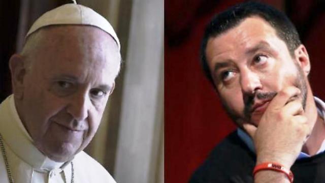"""Papa Francesco rifiuta di incontrare Salvini: """"cambi la sua politica sui migranti"""" …Come mai una notizia tanto eclatante non l'abbiamo sentita dai Tg di regime?"""