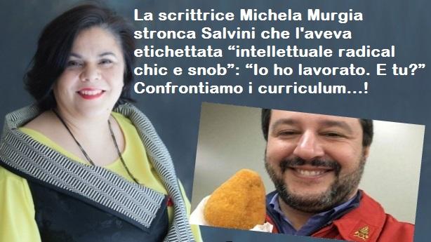 """La scrittrice Michela Murgia stronca Salvini che l'aveva etichettata """"intellettuale radical chic e snob"""": """"Io ho lavorato. E tu?"""""""