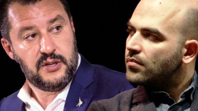 """Salvini avverte Saviano: """"Stiamo rivedendo i criteri per l'assegnazione delle scorte"""". D'altra parte è del tutto inutile impiegare 2000 agenti per la sicurezza di chi combatte le mafie, quando ci sono tutti quegli striscioni da staccare…"""