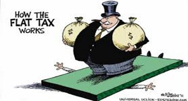La flat tax è un imbroglio dei ricchi ai danni dei poveri… Dico a te, coglione, che guadagni € 15.000. Tu paghi già il 23%…! Chi guadagna € 200.000 paga il 43%! Hai capito, coglione, le tasse non le tolgono a te, ma ai ricchi! E quello che risparmiano i ricchi lo pagherai TU con l'aggravio dei costi sociali