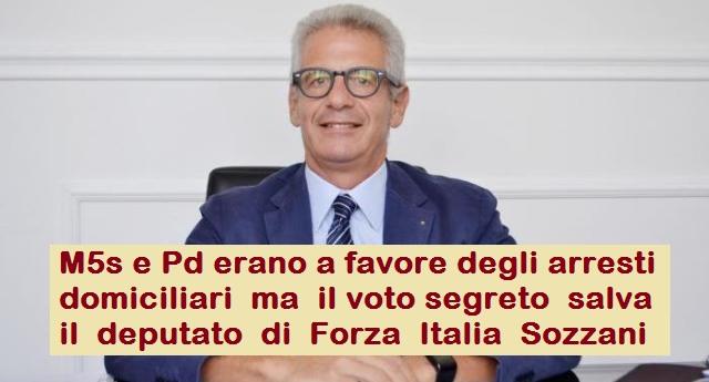 I sozzoni salvano Sozzani, il deputato di Forza Italia accusato di illecito finanziamento e corruzione!