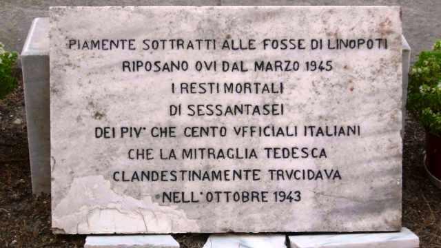 4 ottobre 1943 – 76 anni fa la strage dimenticata – 103 ufficiali Italiani trucidati dai nazisti sull'isola di Kos, in Grecia.