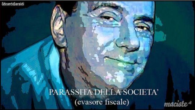Berlusconi con Salvini e Meloni in piazza contro la proposta M5s del carcere per i grandi evasori. Ora qualcuno una domanda se la dovrebbe pur fare: con quale faccia un condannato per frode fiscale può protestare contro una norma che manda in galera questi delinquenti?