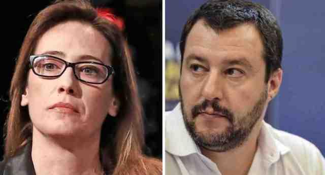"""Ilaria Cucchi asfalta Salvini: """"Lui è contro la droga? Benissimo, condivido. Ma sono contraria anche alle truffe ai danni dello Stato e ai rimborsi fasulli a spese di cittadini normali come me che pagano le tasse e non hanno 80 anni per mettersi in pari""""."""