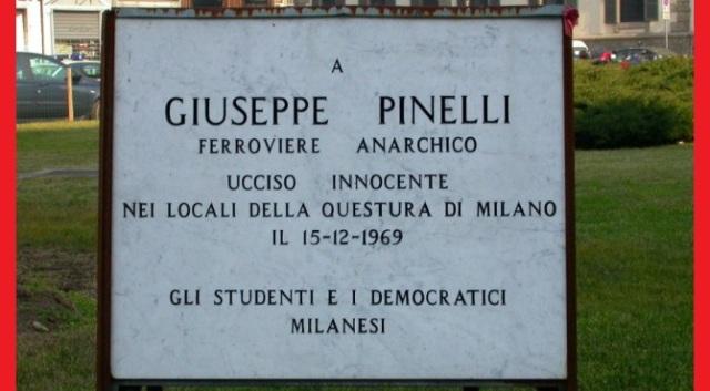 15 dicembre 1969: 50 anni fa l'assassinio di stato dell'anarchico Pinelli