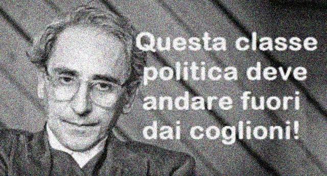 """Sempre attuali le parole di Franco Battiato: """"Questa classe politica deve andare fuori dai coglioni""""…!"""