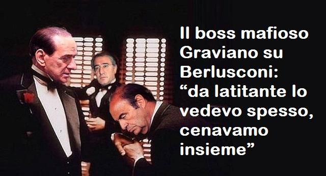 """Il boss mafioso Graviano su Berlusconi: """"da latitante lo vedevo spesso, cenavamo insieme. Quando scese in campo mi chiese una mano"""""""