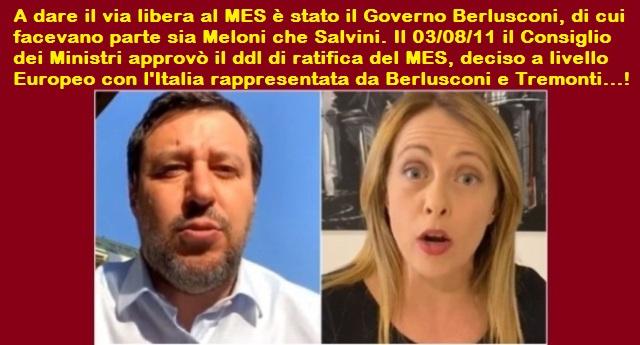 """Meloni e Salvini attaccano Conte sul Mes? parlano di """"metodi da regime""""? Si dichiarano innocenti? Mentono senza vergogna! Ecco la verità…"""
