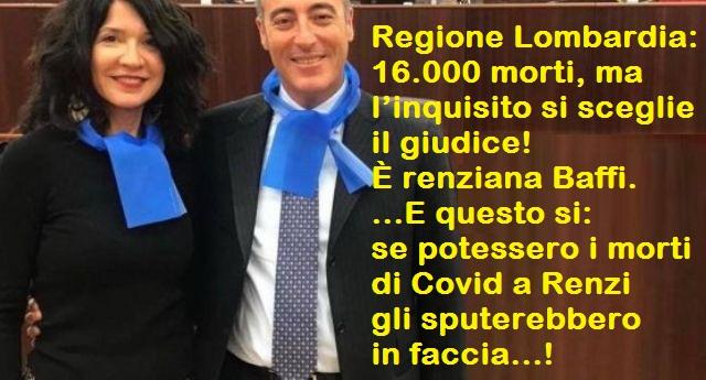 Renzi salva Salvini e in simultanea in Lombardia eletta con i voti della lega la renziana Baffi alla Commissione d'inchiesta su gestione sanitaria (sinora ben 16.000 morti)… Un altro salvataggio leghista in vista! E questo si, se potessero i morti di Covid a Renzi gli sputerebbero in faccia!