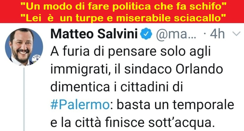 """Il vergognoso tweet di Salvini sulla tragedia di Palermo e le risposte di Pif e del trombettista Roy Paci: """"Un modo di fare politica che fa schifo"""" – """"Lei è un turpe e miserabile sciacallo"""""""